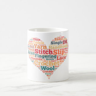 Crochet Word Cloud Coffee Mug