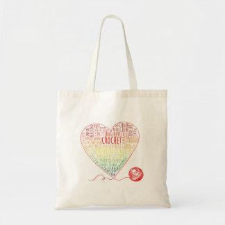 Crochet Words Tote Bags