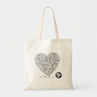 Crochet Words Tote Tote Bags
