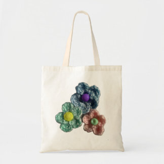 Crocheted Flowers Haekel Blumen Canvas Bag