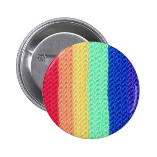 Crocheted Rainbow pin
