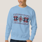 Crocheted Red Snowflakes Ugly Christmas Sweater