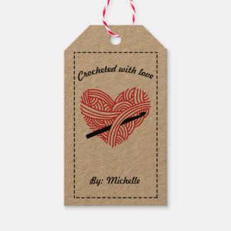 Crocheted with Love / Care Instructions Gift Tags