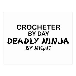 Crocheter Deadly Ninja by Night Postcard