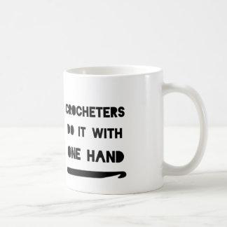 Crocheters do it with one hand mug