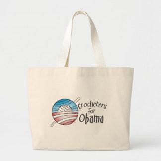 Crocheters for Obama, Tote Jumbo Tote Bag