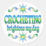 Crocheting Brightens Stickers