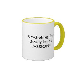 Crocheting for charity is my PASSION Morphingmug Ringer Mug