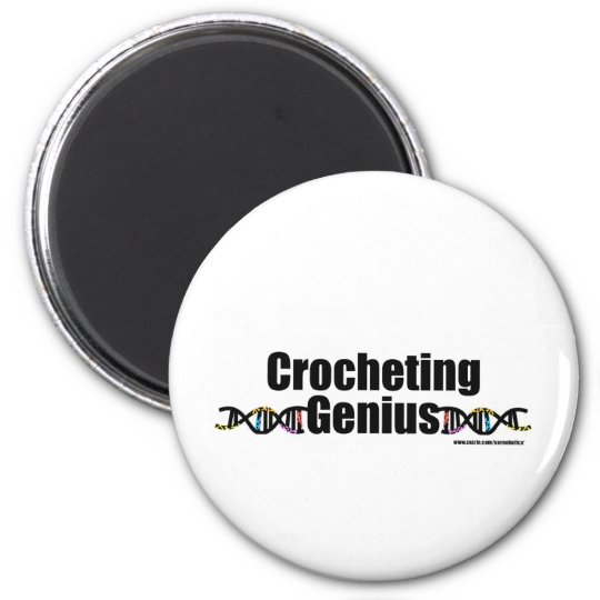 Crocheting Genius DNA Merchandise 6 Cm Round Magnet