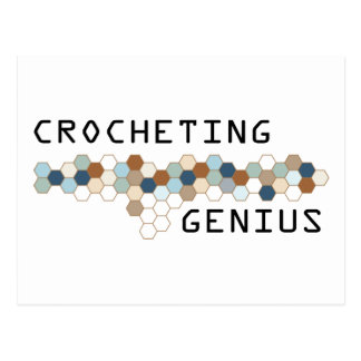 Crocheting Genius Postcard
