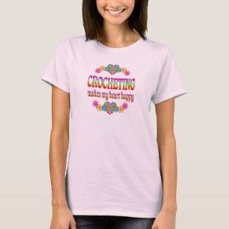 Crocheting Heart Happy T-Shirt