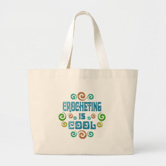 Crocheting is Cool Tote Bags