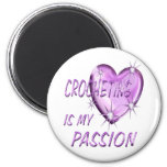 CROCHETING PASSION 6 CM ROUND MAGNET