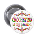Crocheting Passion Pinback Button