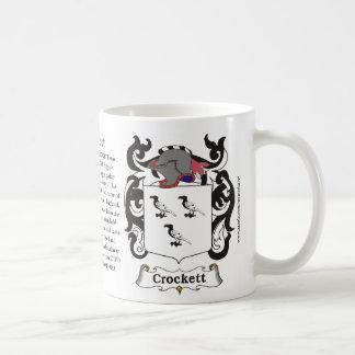 Crockett Family Coat of Arms Mug