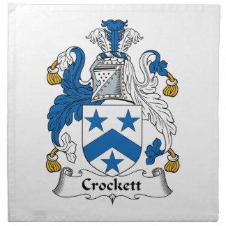 Crockett Family Crest Cloth Napkins
