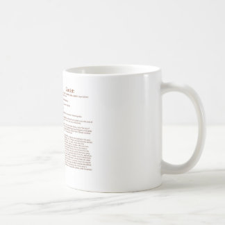crockett (meaning) basic white mug