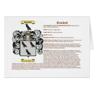 crockett (meaning) greeting card