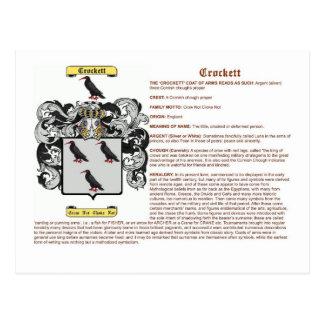 crockett (meaning) postcard