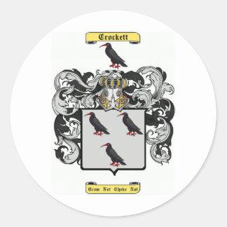 crockett round sticker