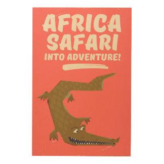 Crocodile Africa Safari poster! Wood Print
