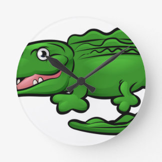 Crocodile Alligator Animal Cartoon Character Clock