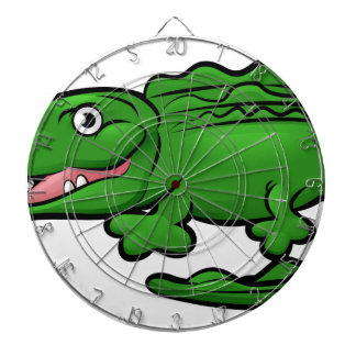 Crocodile Alligator Animal Cartoon Character Dart Board