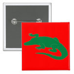 Crocodile Alligator Gator Reptile 15 Cm Square Badge