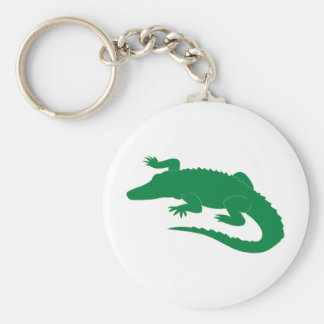 Crocodile Alligator Gator Reptile Basic Round Button Key Ring