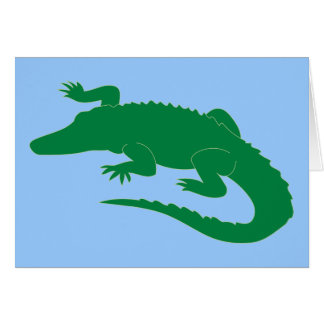 Crocodile Alligator Gator Reptile Card