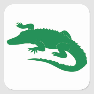Crocodile Alligator Gator Reptile Square Sticker