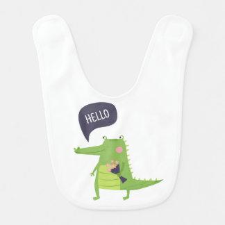 Crocodile baby bib