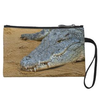 Crocodile Wristlet