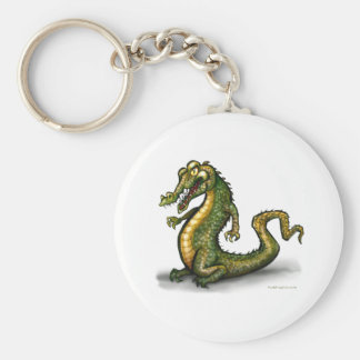 Crocodile Basic Round Button Key Ring