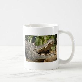 crocodile basic white mug
