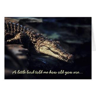 Crocodile birthday card