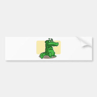 Crocodile Bumper Sticker