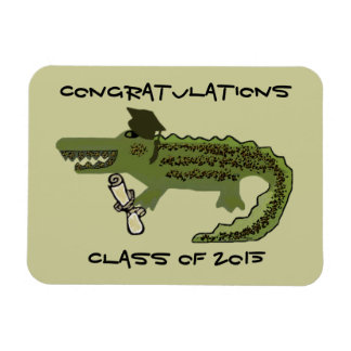Crocodile Cool Graduation Gift Magnet