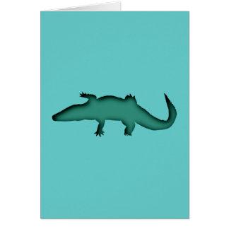 Crocodile crocodile card