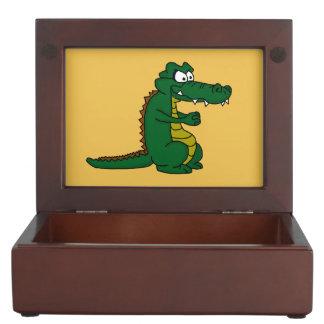 Crocodile design custom keepsake box