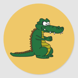 Crocodile design custom stickers