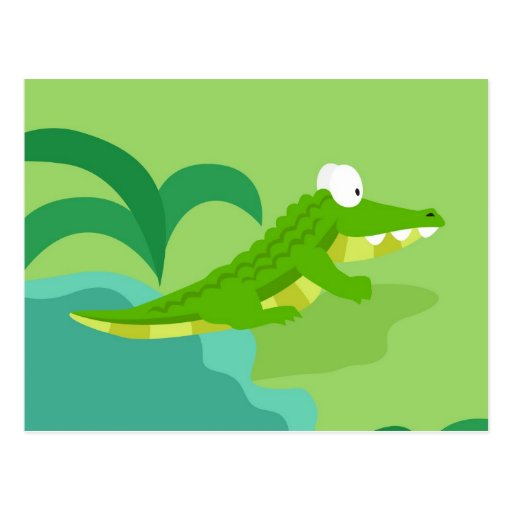 Crocodile from my world animals serie post card
