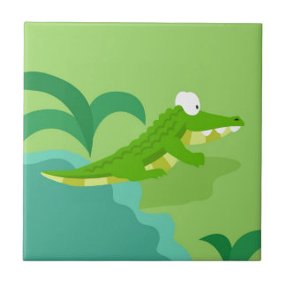 Crocodile from my world animals serie small square tile