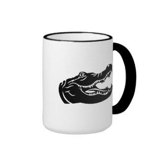 Crocodile head coffee mug