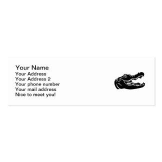 Crocodile head pack of skinny business cards