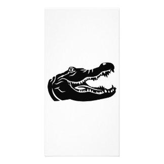 Crocodile head personalised photo card