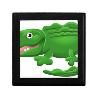 Crocodile or Alligator Animal Cartoon Character Small Square Gift Box