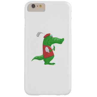 Crocodile playing golf cartoon barely there iPhone 6 plus case