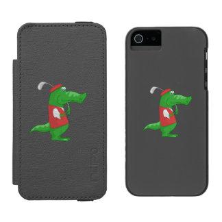 Crocodile playing golf cartoon incipio watson™ iPhone 5 wallet case
