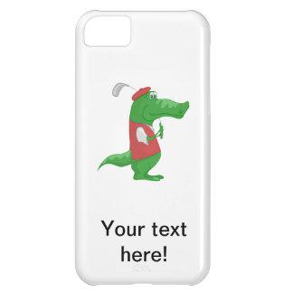 Crocodile playing golf cartoon iPhone 5C case